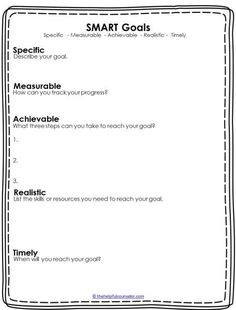 Printables Smart Goals Worksheets new school year goal planning and counseling on pinterest resolutions smart goals free download printable