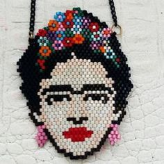 Beading Techniques, Beading Tutorials, Peyote Patterns, Beading Patterns, Beaded Embroidery, Cross Stitch Embroidery, Frida Art, Bead Loom Bracelets, Earring Tutorial