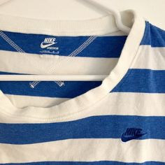 Striped Nike T-shirt Striped Nike T-shirt, size large. Worn once and in excellent condition. Nike Tops Tees - Short Sleeve