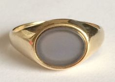 Agate Signet Ring in 9ct gold #Unbranded