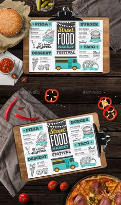 Food Truck Menu by Marchiez Food Truck Menu Restaurant Template 鈥?20Photoshop & Illustrator files 鈥?20CMYK 鈥?20300 DPI 鈥?20Size A4 鈥?20210mm x 297mm bleed area 3mm 鈥?20