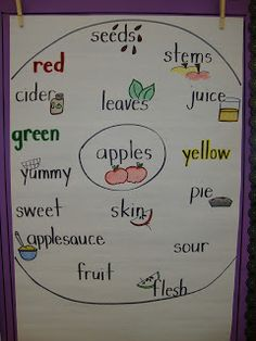 Today in First Grade...: apples anchor chart