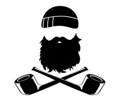 6in Beard and Crossed Pipes Sticker Gloss by BlackSheepStickers