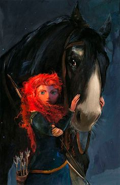 "Jim Salvati ""BRAVE-WILLFUL DAUGHTER"" COA, LE S/N CANVAS & ALL DISNEY PRINTS"