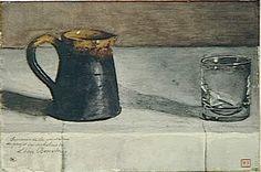 Léon Bonvin (French, 1834-1866)  Glass on a Table  1866