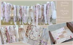 Shabby Chic Rag Banner and Rag Quilt Combo by modernragquilts, $60.00