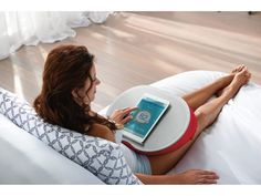 Sleep Number® Tech-e™ Lap Desk: Flat surface provides steady support. Soft and comfortable pillow base rests on your lap. Easy-to-carry design features a fabric handle. Zippered pocket to store cords and devices.#TechLover #Under$50