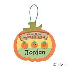 Thumbprint Pumpkin Patch Craft Kit - OrientalTrading.com