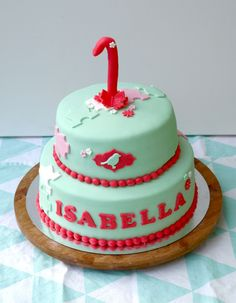 Cute cake for a first birthday!