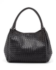 Parachute Intrecciato Tote Bag, Black by Bottega Veneta at Neiman Marcus. Love this bag!!!
