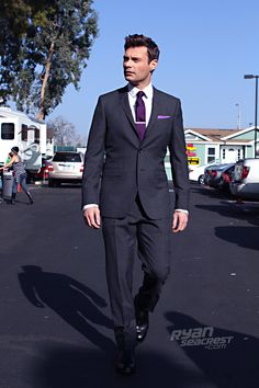 "Ryan Seacrest minutes before ""American Idol's"" March 15 episode. Suit by @Burberry, shoes by George Esquivel."