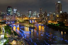 City of Osaka, Japan turns its river into the Milky Way with thousands of sparkling lights