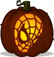 Spider-Man pumpkin pattern - Pumpkin Carving Patterns and Stencils - Zombie Pumpkins!