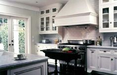 Kitchen - French Doors, Backsplash, Hood