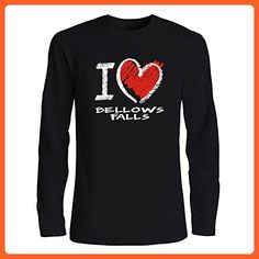 Idakoos - I love Bellows Falls chalk style - US Cities - Long Sleeve T-Shirt - Cities countries flags shirts (*Partner-Link)