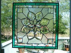 Gorgeous!!!   Exquisite Beveled Stained Glass Victorian Panel