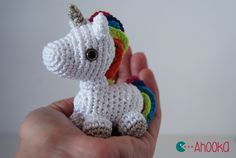 Tiny Rainbow Unicorn - Free Amigurumi Pattern here…