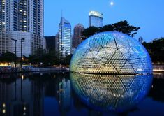 Daydreamers Design have created Rising Moon, a temporary pavilion made using recycled plastic bottles for the 2013 Hong Kong Mid-Autumn Fest...