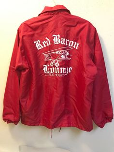 e1651897474f Details about Vintage Red Baron Lounge Citrus Heights CA Windless  Windbreaker Jacket Sz Medium