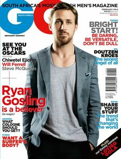 Ryan Gosling - GQ Magazine Cover [South Africa] (February 2014)
