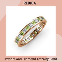 Eternity Bands, Diamond Wedding Bands, Princess Cut, Perfect Match, Peridot, Jewelry Collection, Diamonds, Rose Gold, Gemstones