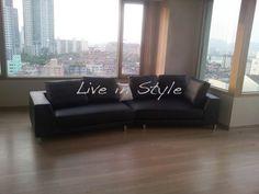 Leather Sofa - Max6029 in black