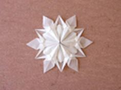 Origami snowflake tutorial