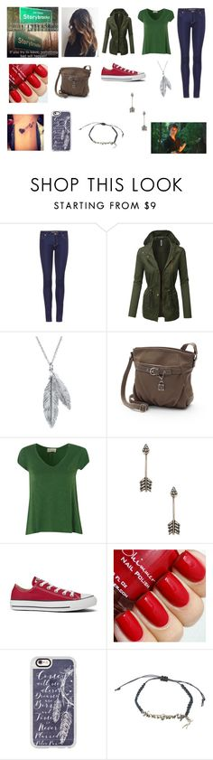 """moving to storybrooke"" by fallen-326 on Polyvore featuring MICHAEL Michael Kors, LE3NO, Nina B, Rosetti, American Vintage, Pamela Love, Converse, Casetify, Disney and Once Upon a Time"