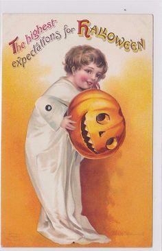 Vintage Mechanical Halloween Postcard Clapsaddle | eBay