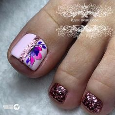 Pretty Toe Nails, Pretty Toes, Pedicure Designs, Toe Nail Designs, Feet Nails, Toenails, Manicure, Toe Nail Art, My Style