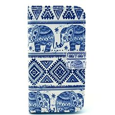 Elephant Tribal Carpet Patroon PU Leather Stand Case met Card Slot voor Samsung Galaxy S4 I9500 - EUR € 10.54
