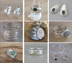 Photo-diary of work in progress, finished commissions and gallery pieces. Contemporary silver jewellery inspired by scandinavian design.