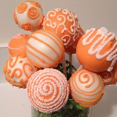 Custom order! Orange cake pops!