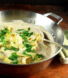 The best vegan white pasta sauce. Ever. • Holy Cow! Vegan Recipes