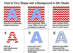 How to fill a shape with pattern on the silhouette software