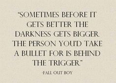 Fall Out Boy, lyrics from the song Miss Missing You.