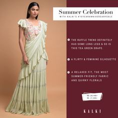 Go all out with ethnic outfits or add a twist of fusion, this wardrobe makeover gives you endless possibilities to experiment with your ethnic looks for your upcoming summer weddings. To help you stock up for the season, we've created a must-have list of the prettiest traditional & contemporary sarees that can up your style game this sunny summer. Also, they are on amazing offers,  #10YearAnniversarySale   Sale Dates: 6th - 16th Feb Santacruz: SV, Next to Asha Parekh hospital Happy Shopping… Party Wear Dresses, Prom Dresses, Formal Dresses, Ethnic Outfits, Indian Outfits, Asha Parekh, Wardrobe Makeover, Ethnic Looks, Summer Weddings