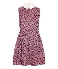 Another great find on #zulily! Purple & White Damask Sleeveless Dress by Iska London #zulilyfinds