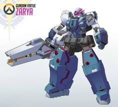 「Gundam Zarya」/「クマ X」[pixiv]