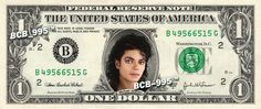 MICHAEL JACKSON on REAL Dollar Bill Cash Money Bank Note Currency Celebrity Dinero $