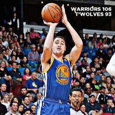 Klay Thompson took over when the team needed him most, leading the way to a 106-93 Warriors win tonight in Minnesota. Thompson scored 26 of his 30 points in the second half, including 13-straight for the Warriors during a critical fourth quarter stretch. The win was the third straight for the Warriors, who continue their road trip in San Antonio on Friday.