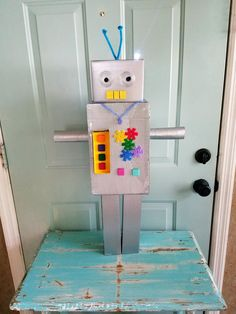 DIY Robot from recycled materials