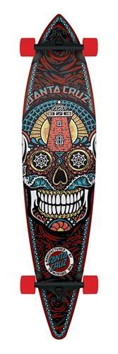 Santa Cruz Skateboards Sugar Mexican Skull Fiberglass Longboard Skateboard Old School Longboard Complete Cruzer Long Board Longboarding Crui...