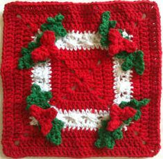 Holly Square Dishcloth