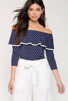 bf841d206b5 Dot Flounce TopDot Flounce Top Latest Dress