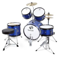cool Blue 5 Piece Full Junior Drum Set Cymbals Baby Starter Package w/ Stool Check more at https://aeoffers.com/product/music-and-instruments/blue-5-piece-full-junior-drum-set-cymbals-baby-starter-package-w-stool/