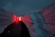 """Oslo-based photographer Oystein Sture Aspelund captures the fiery red nordic landscape for his latest series entitled """"Aeon"""". Photography Series, Fine Art Photography, Landscape Photography, Led Light Design, Mood Colors, Fiery Red, Grid Design, French Photographers, Art Pictures"""