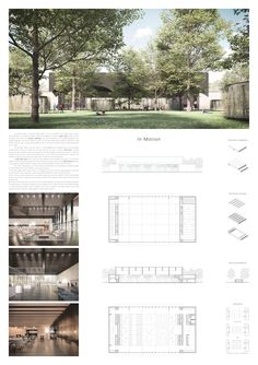 Student Project - Welcome my homepage Architecture Presentation Board, Presentation Layout, Architecture Board, Architecture Graphics, Architecture Visualization, Architecture Drawings, Concept Architecture, School Architecture, Landscape Architecture