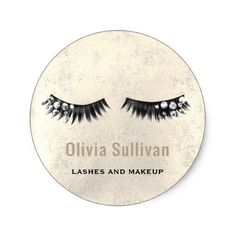 crystal fake eyelashes classic round sticker - makeup artist gifts style stylish unique custom stylist