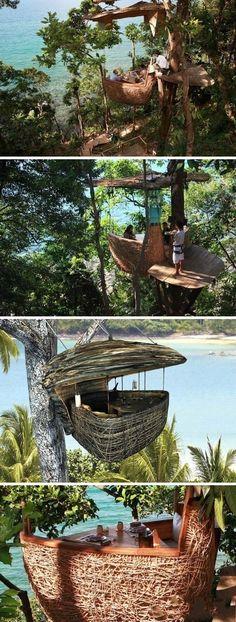 Unique Tree House Restaurant at Soneva Kiri Resort, Thailand